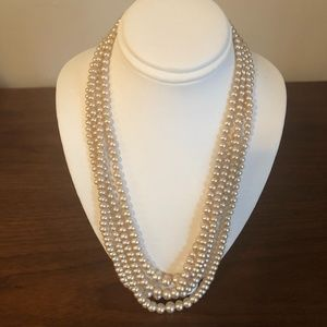Vintage multi strand pearl necklace